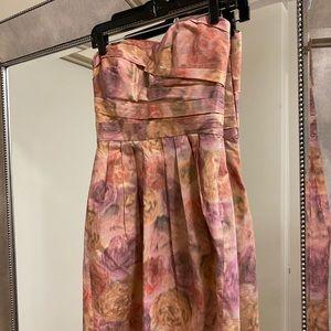 Anthropologie Sine Floral Strapless Dress